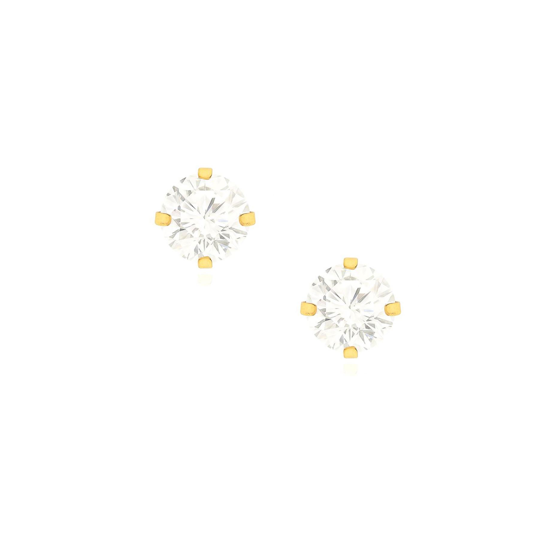 Brinco Folheado Ponto de Luz 8mm