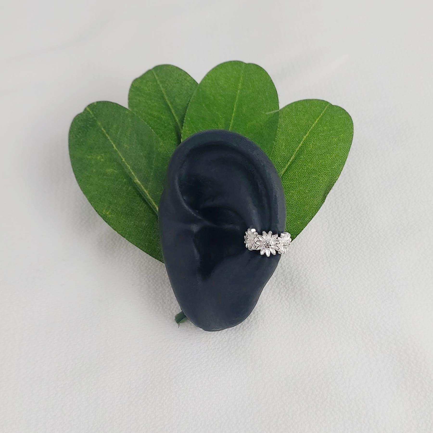 Piercing Fake Prata Girassol - Natureza