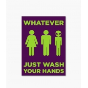 Placa Lave Suas Mãos