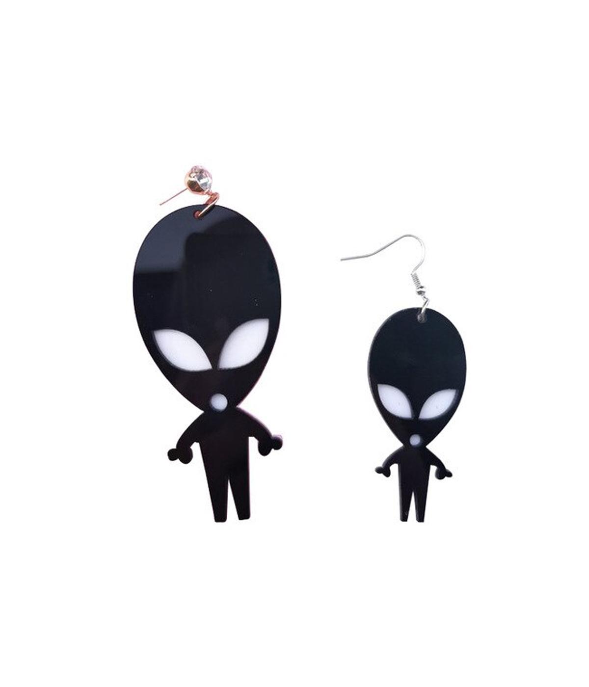 Brinco Alien Preto