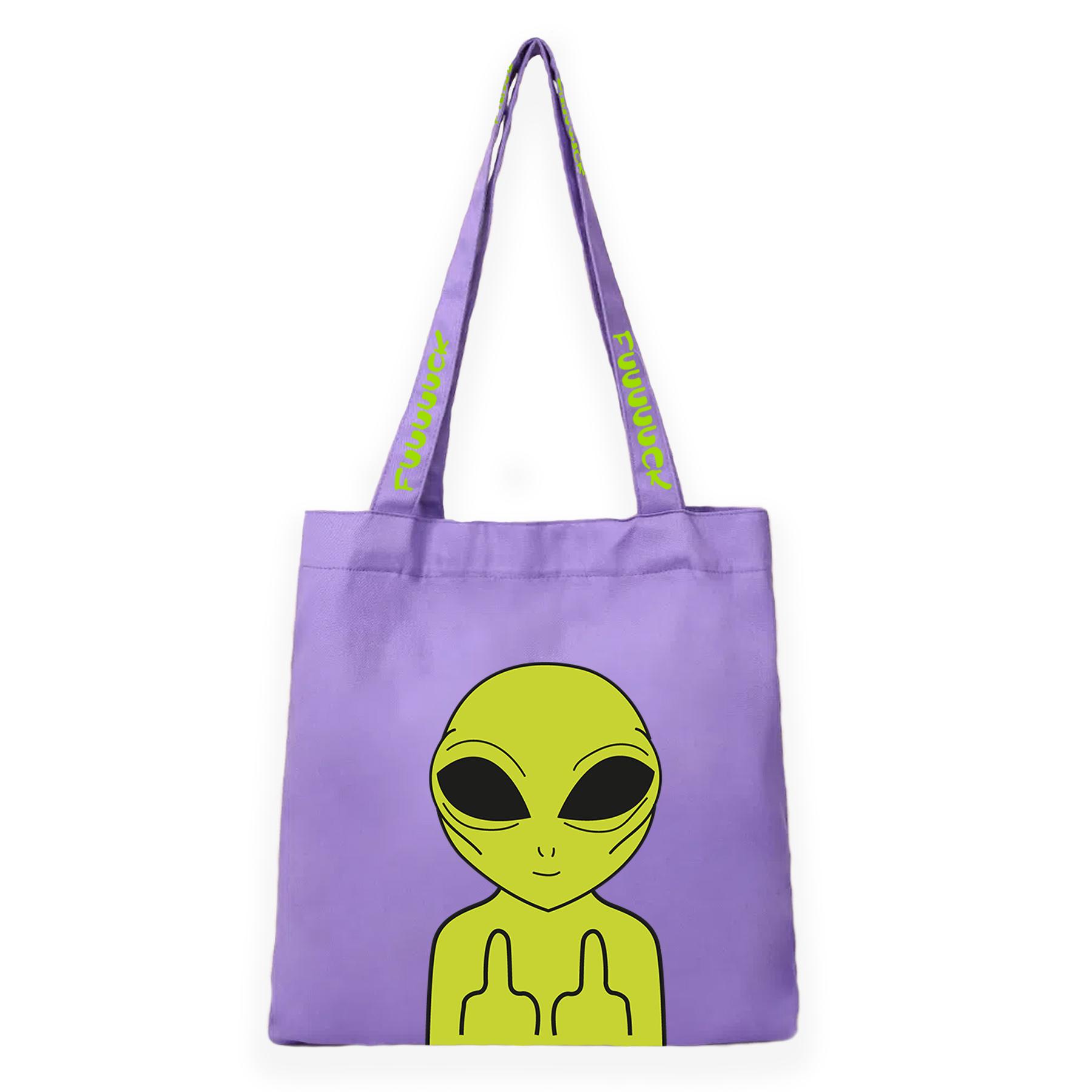 Pouch Bag Fuuuck Purple