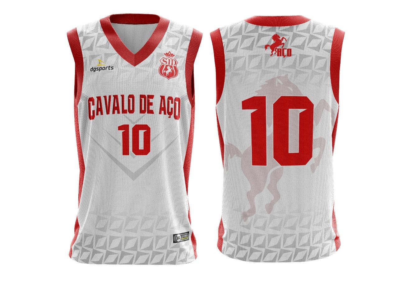 Camisa de basquete oficial cavalo de aço
