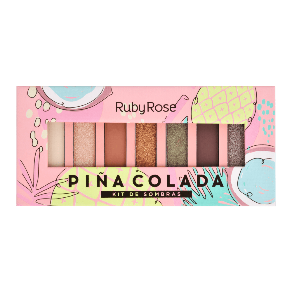 PALETA DE SOMBRAS PINACOLADA RUBY ROSE HB-1055