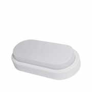 Arandela Oval Flat LED 8W 6500K Bivolt IP65 Branca Demi 9318