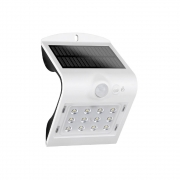 Arandela Solar V LED 1,5W 3000K IP65 com Sensor de Movimento Branca Demi 9412