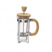 Cafeteira Prensa Francesa em Vidro e Bambu 350ml Mimo Style AF20341