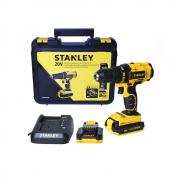 Furadeira Parafusadeira 1/2pol 2 Baterias 20V Lition Stanley SCD20C2K BR