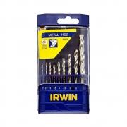 Jogo de brocas Aco rapido para Metal 9 pecas Irwin 1865310