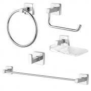 Kit de acessorios para Banheiro 5pcs Cromado Docol Trip 00765606