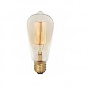 Lampada ST58 Filamento Carbono 220V 40W 2300K E27 Glight 180 10 0032