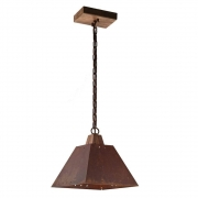 Pendente 1 Lampada Metal Envelhecido Madelustre Napoli 2142