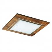 Plafon em madeira 47x47cm 3 Lampadas Mona Lisa Madelustre 128IB
