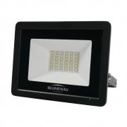 Refletor de LED Tech 30W 3000K Preto Blumenau 7630300