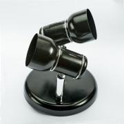 Spot Aluminio 2 Lampadas Preto Click Injet 8267 2