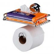 Suporte para Papel Higienico e Porta Objetos com Ventosa Future 4052