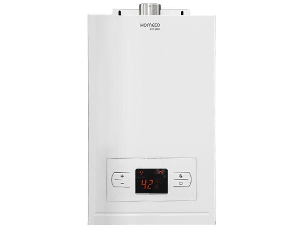 Aquecedor de Agua a Gas Digital 19,5l Branco Komeco KO 20D