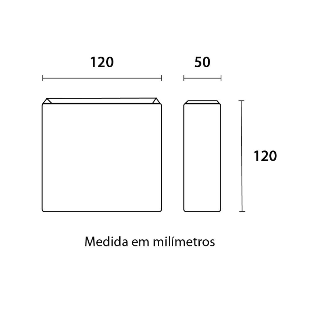 Arandela LED Clean 3W 3000K IP65 Preta Blumenau 23033001