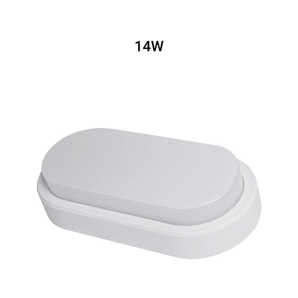 Arandela Oval Flat LED 14W 6500K Bivolt IP65 Branca Demi 9313