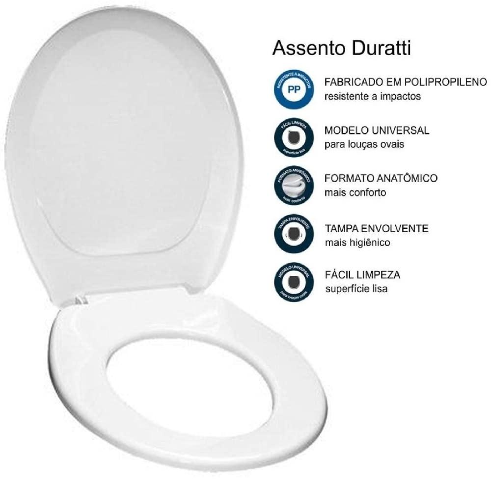 Assento Sanitario Duratti Branco Lorenzetti 7150000