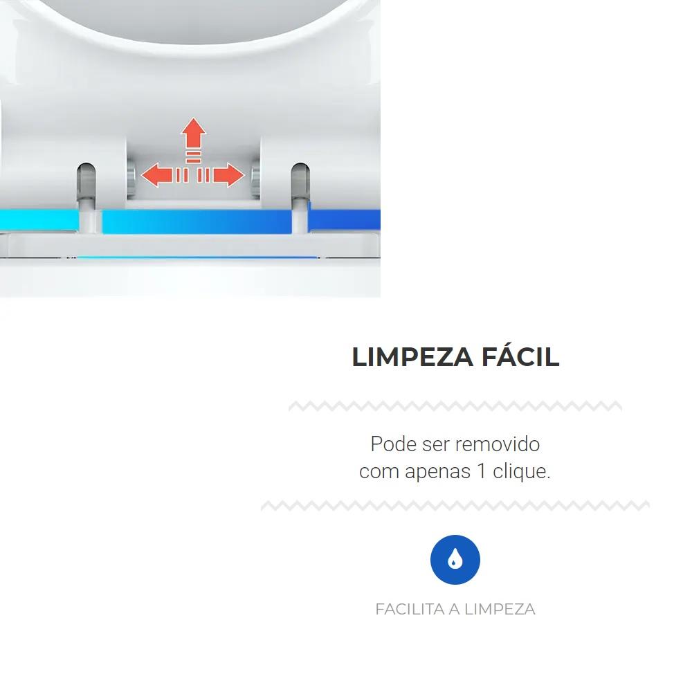 Assento Sanitario Sistema Soft Close Limpeza Facil Censi 7602