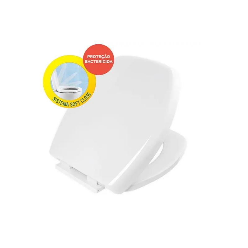 Assento Sanitario Soft Close Thema Branco Censi 7620
