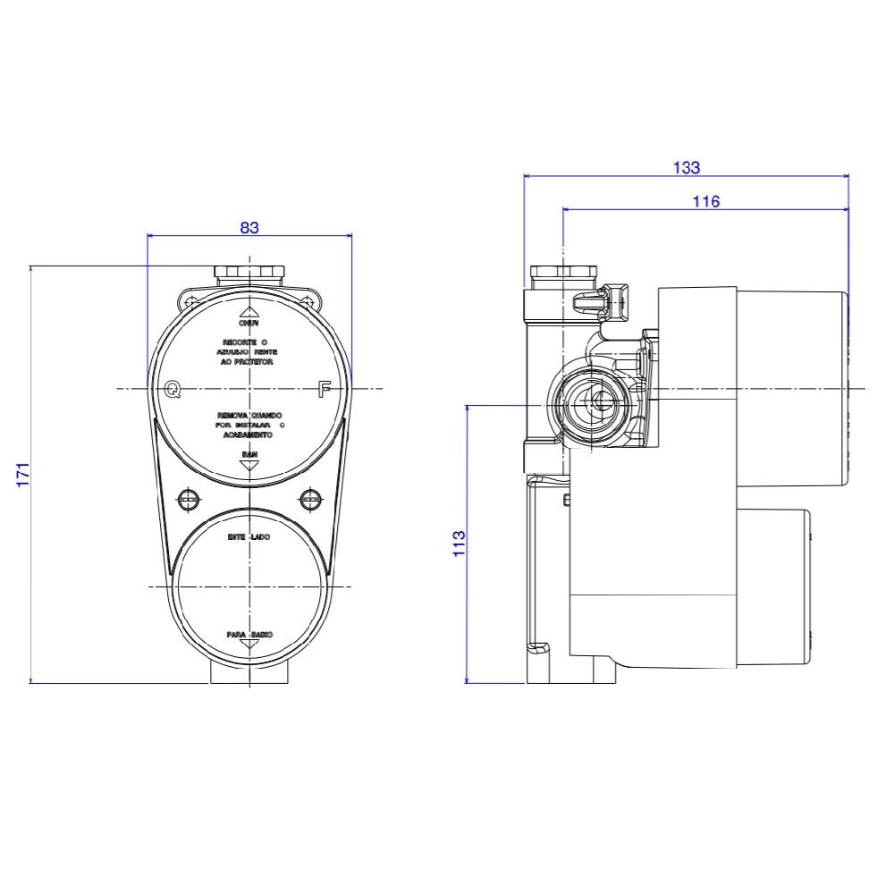 Base Misturador Monocomando 4 vias Deca 4494000
