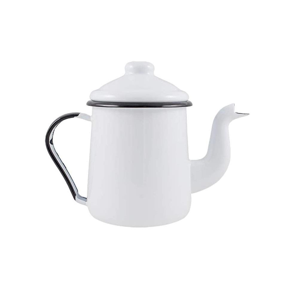 Cafeteira Esmaltada Tradicional 1100ml Branca Ewel 151 003