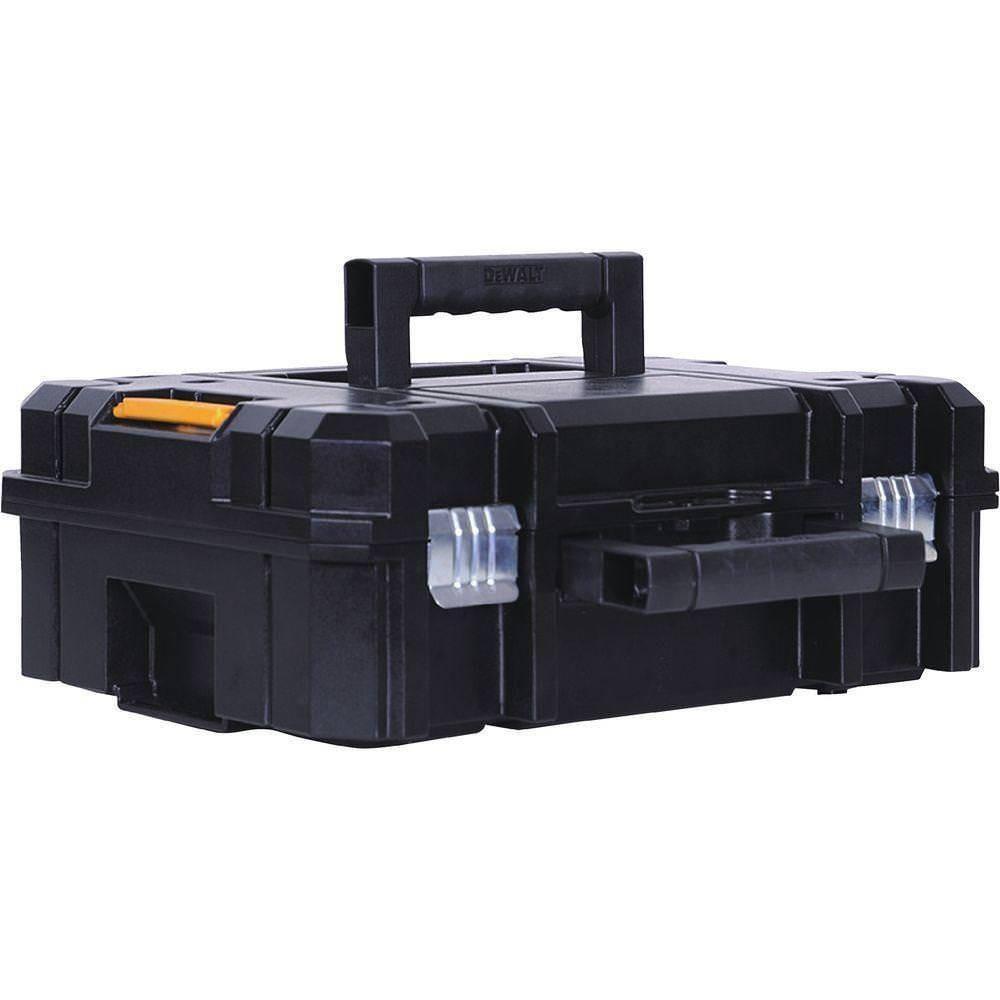 Caixa Plastica para Ferramentas TSTAK com Fecho Metalico Dewalt DWST17807