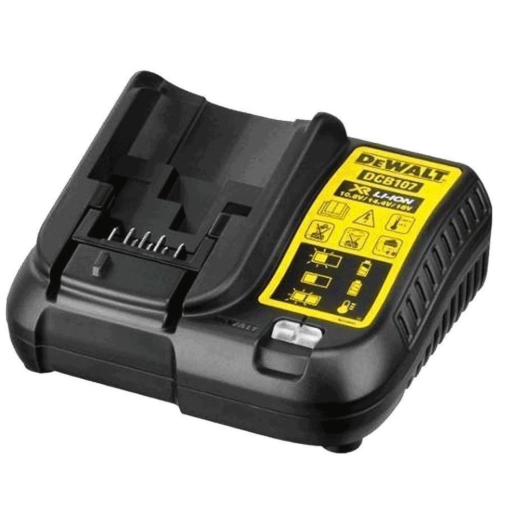 Carregador de Bateria 12V a 20V Lition Bivolt DeWalt DCB107