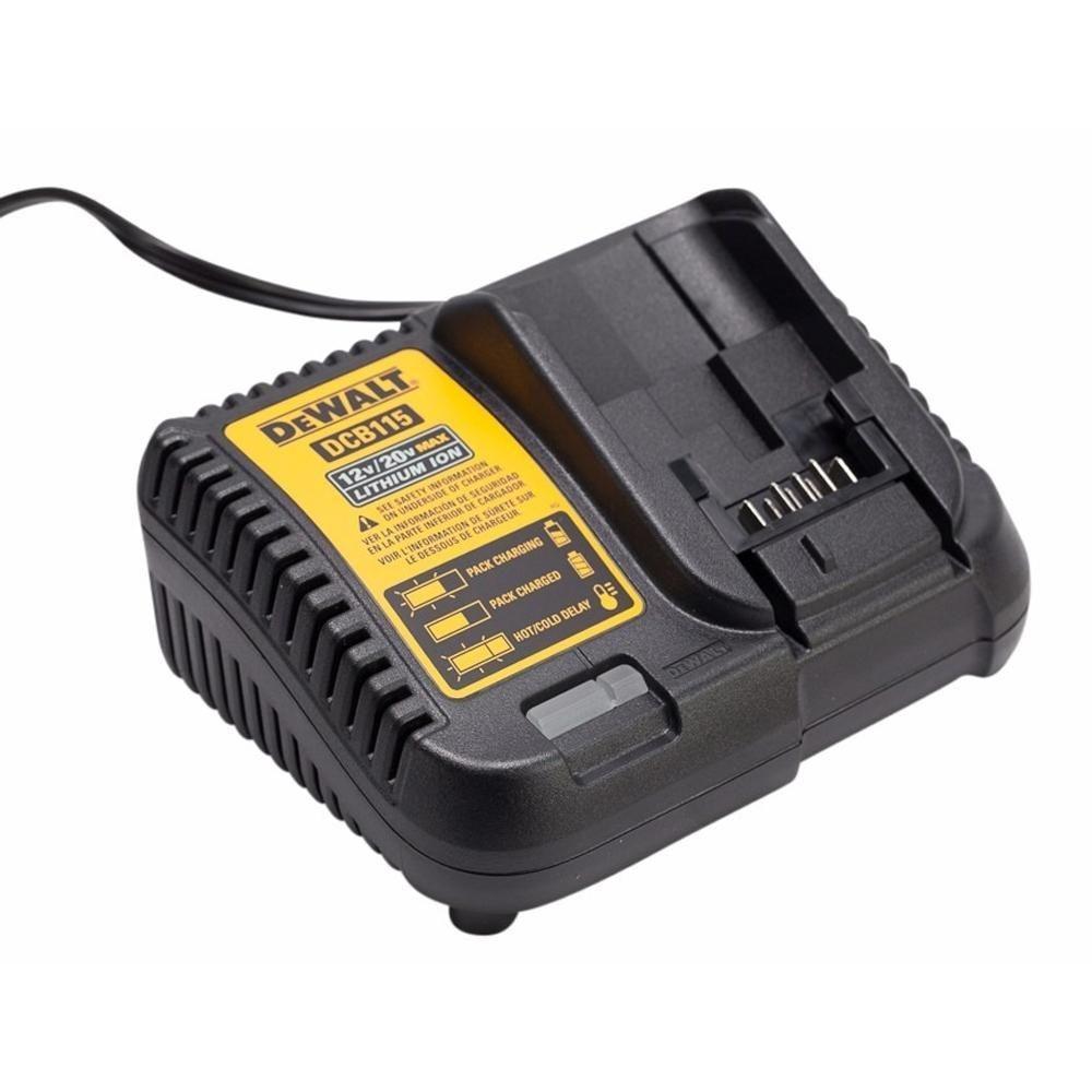 Carregador de Baterias 12v e 20v Litio Dewalt DCB115