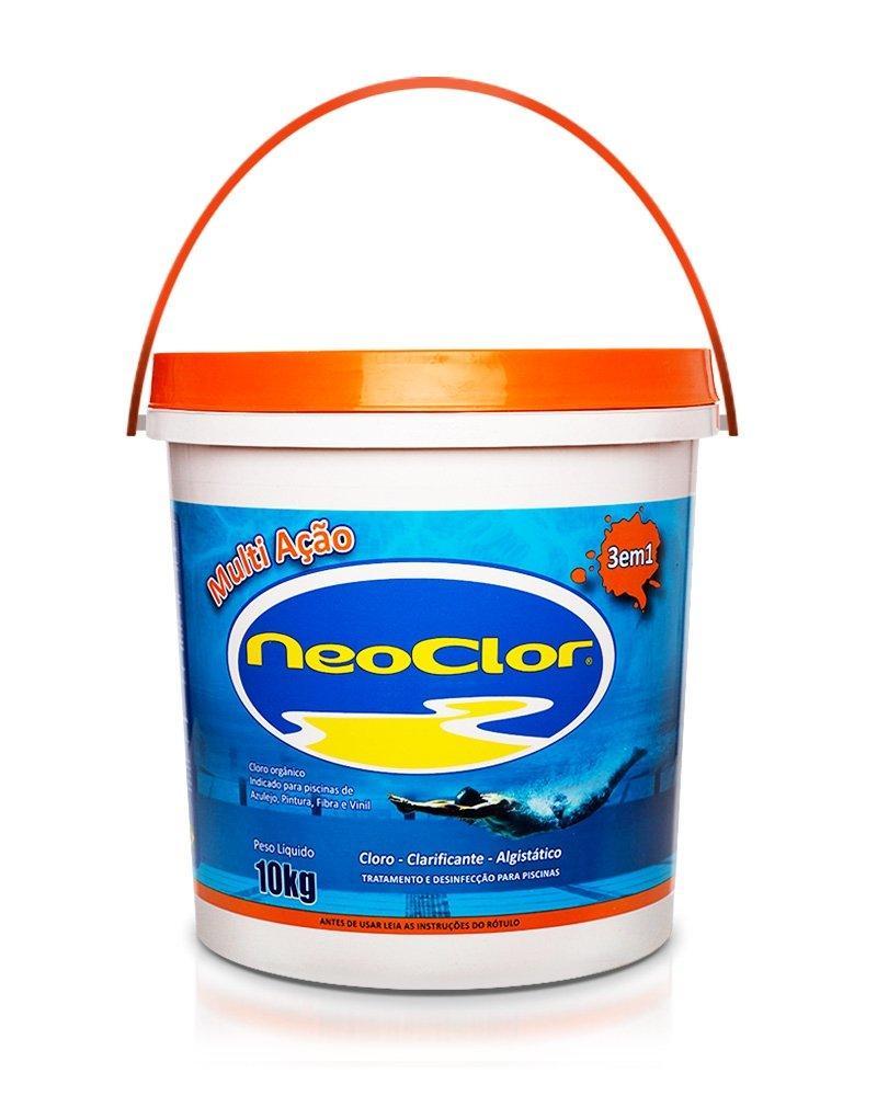 Cloro Organico Estabilizado para Piscina Multi Acao 10Kg Neoclor