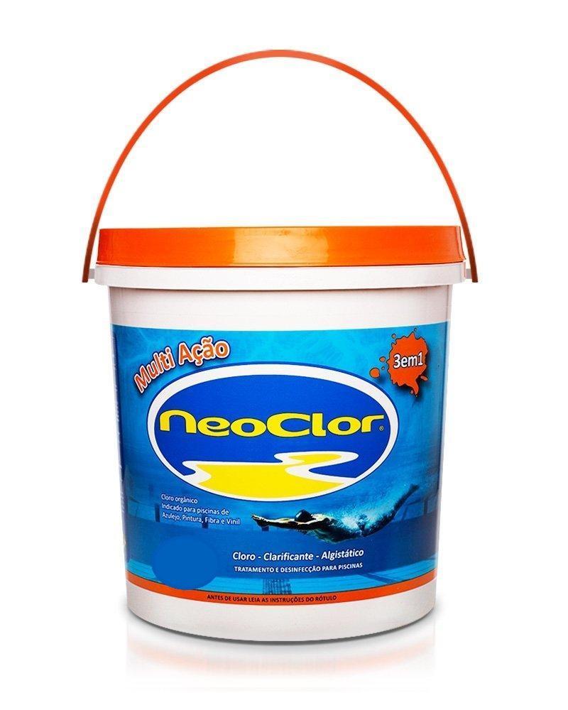 Cloro Organico Estabilizado para Piscina Multi Acao 3Kg  Neoclor