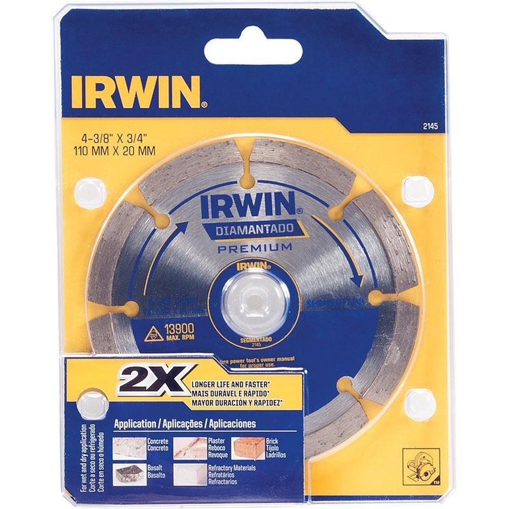 Disco Diamantado Segmentado 110mm Irwin IW2145