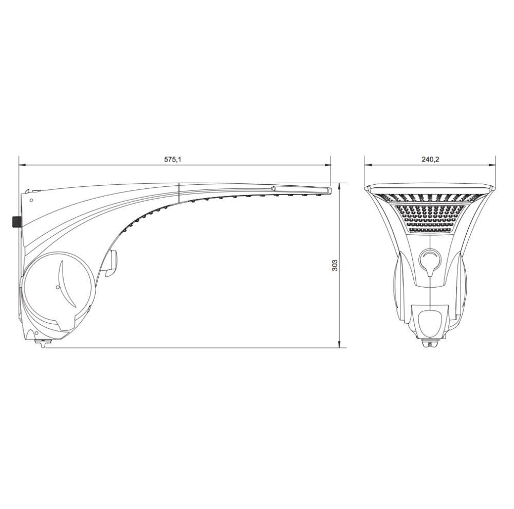 Ducha Duo Shower Quadra Turbo 220V 7500W Lorenzetti 7511049