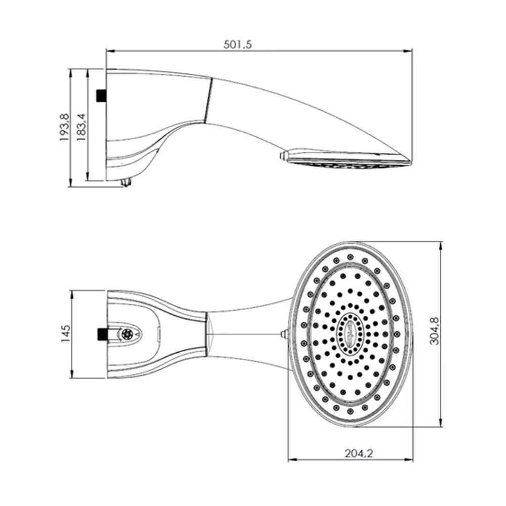 Ducha Eletronica Optima 7700W 220V Hydra DPOPE772BR
