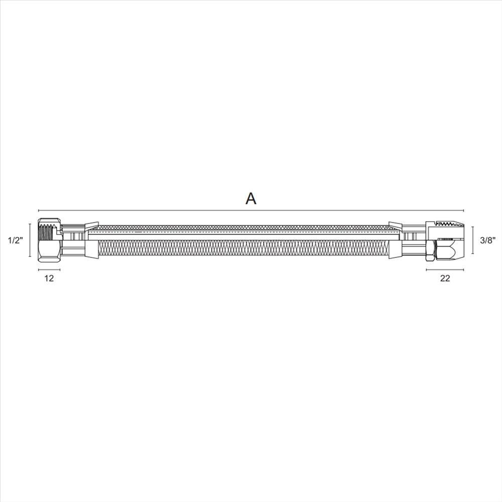 Engate Flexivel Aco Inox para Gas 1,5M Blukit 181904