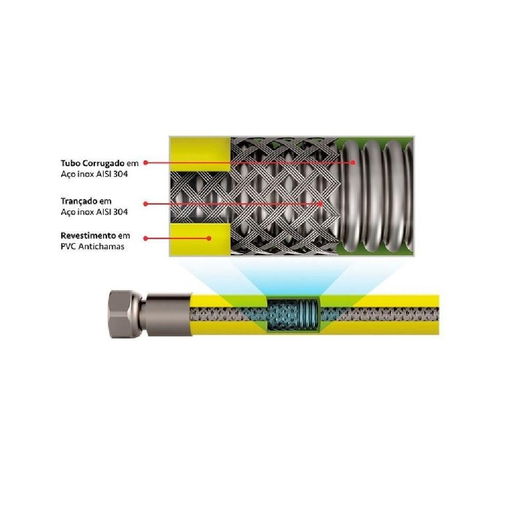 Engate para Gas Multicamada 1M com Adaptadores Censi 7573