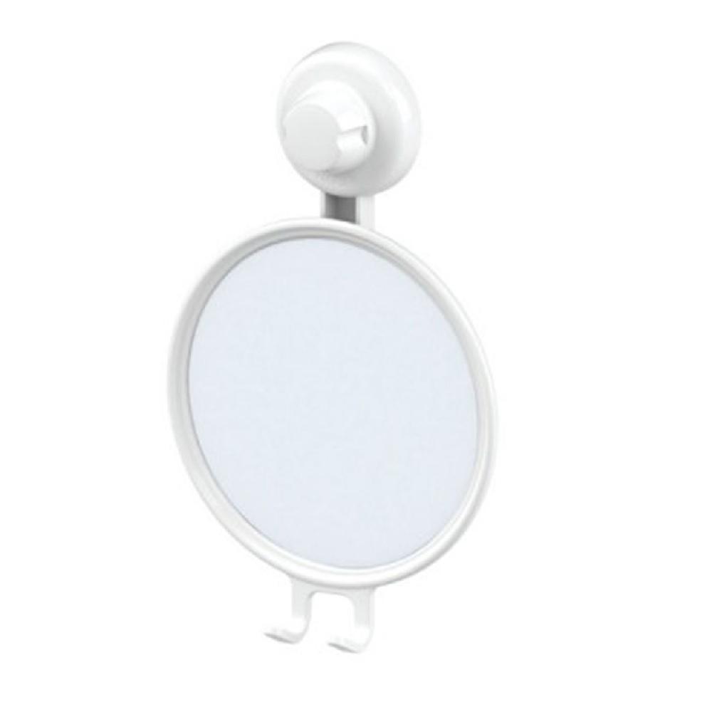 Espelho Antiembacante com Ventosa Branco Future 406BC