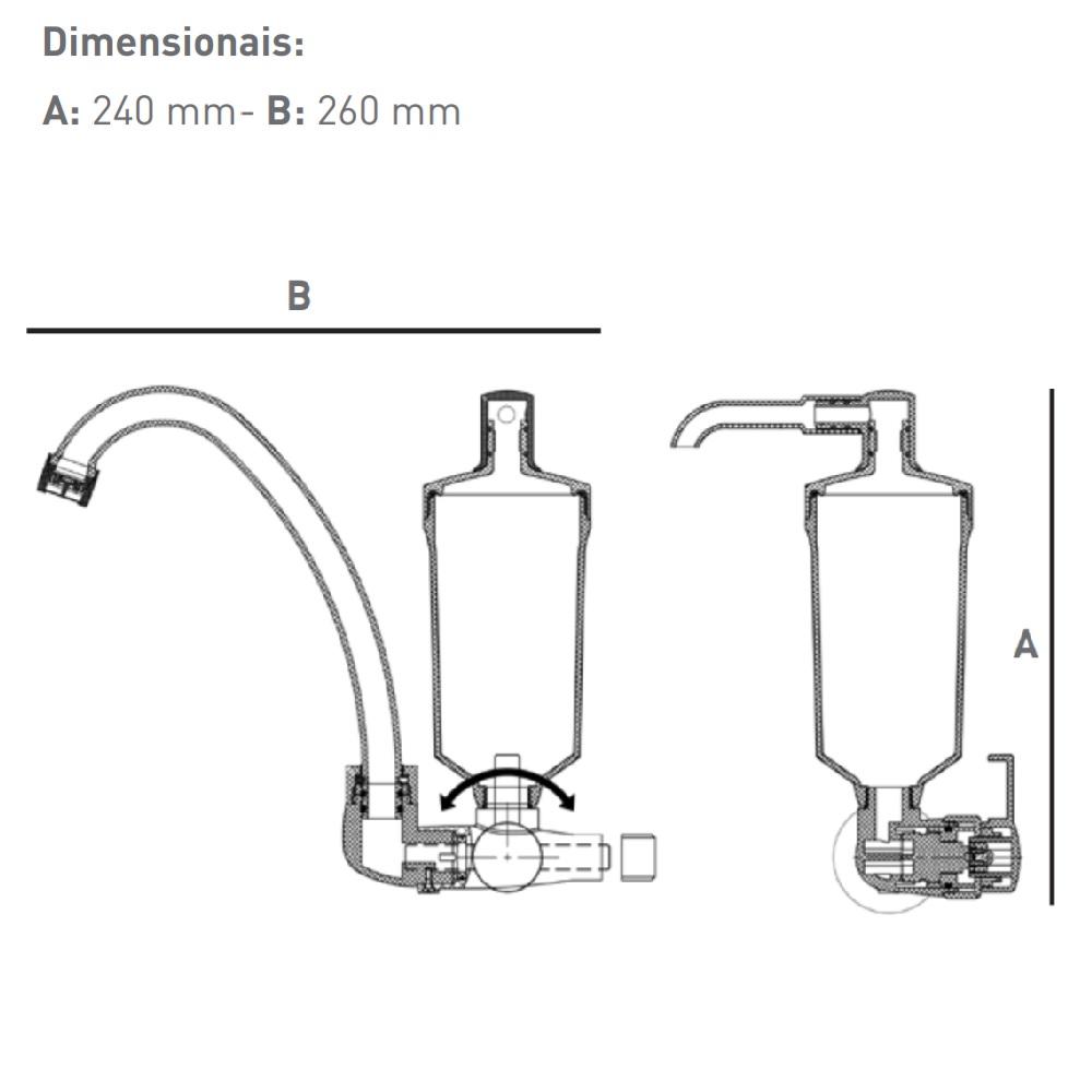 Filtro Bica Movel Torneira Parede Branco Hidrofiltros 907 2286
