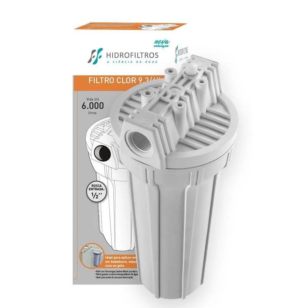 Filtro de Agua Clor 9.3/4 Branco Hidrofiltros 9070019
