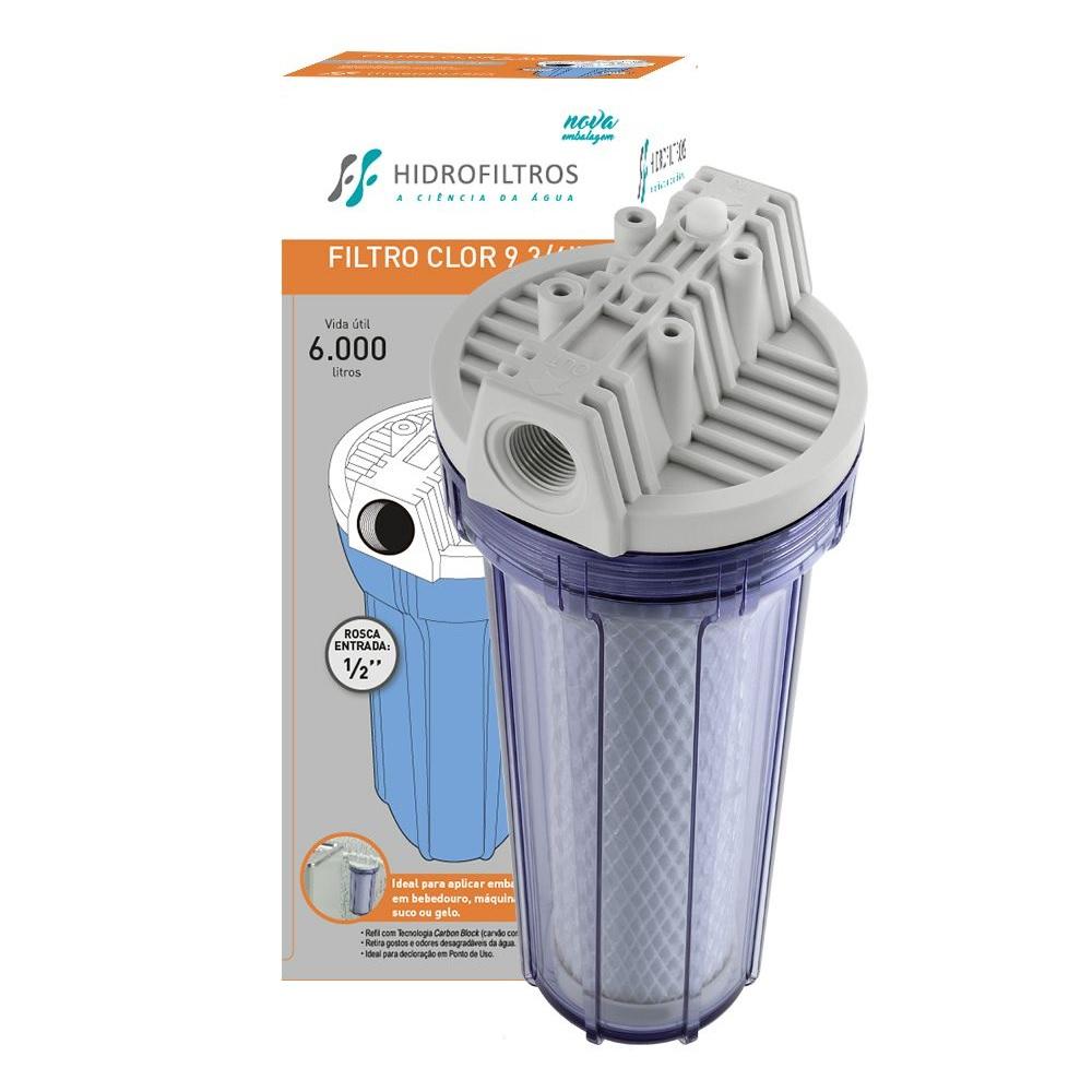 Filtro de Agua Clor 9.3/4 Transparente Hidrofiltros 9070018