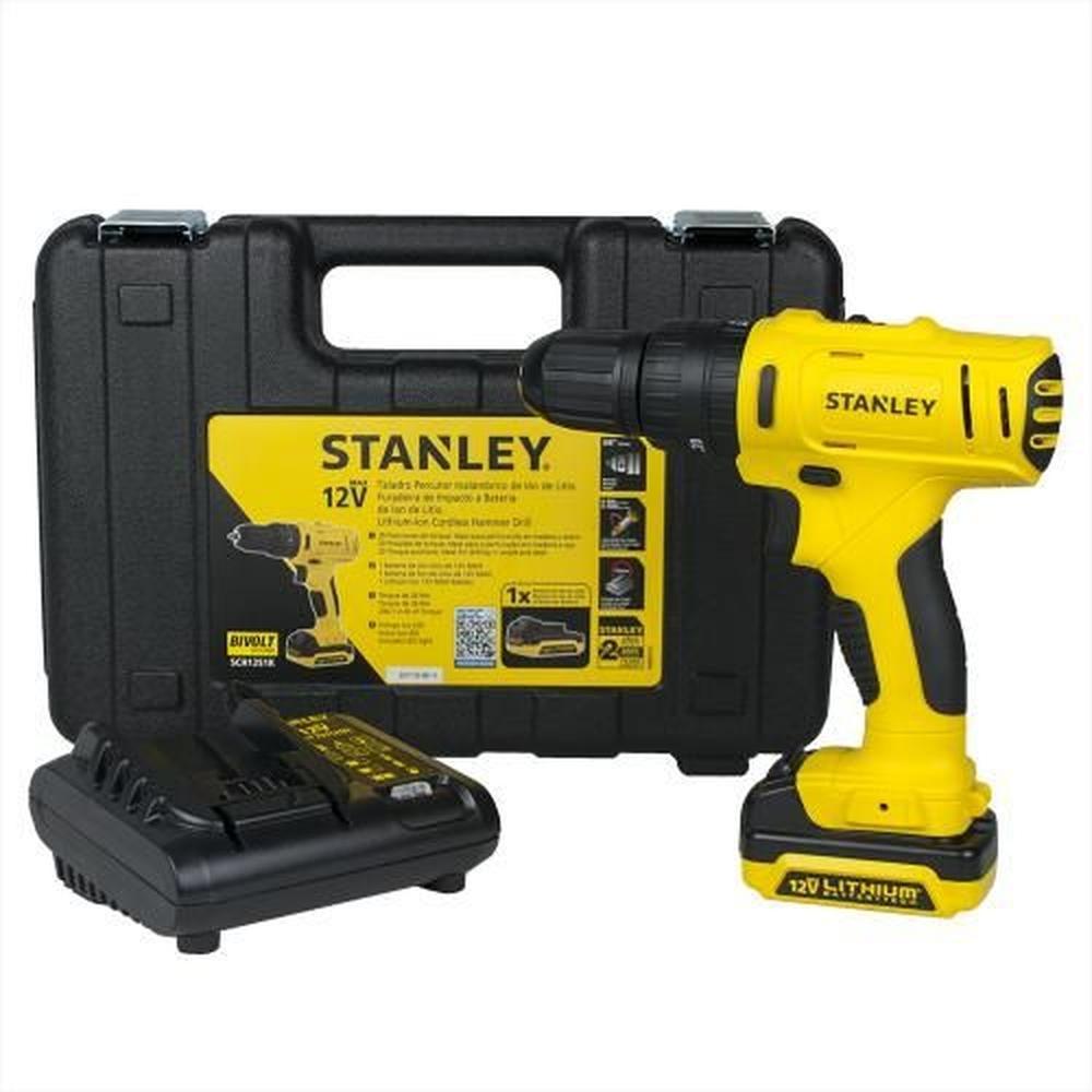 Furadeira Parafusadeira de Impacto com Bateria e Maleta Stanley SCH12S1K
