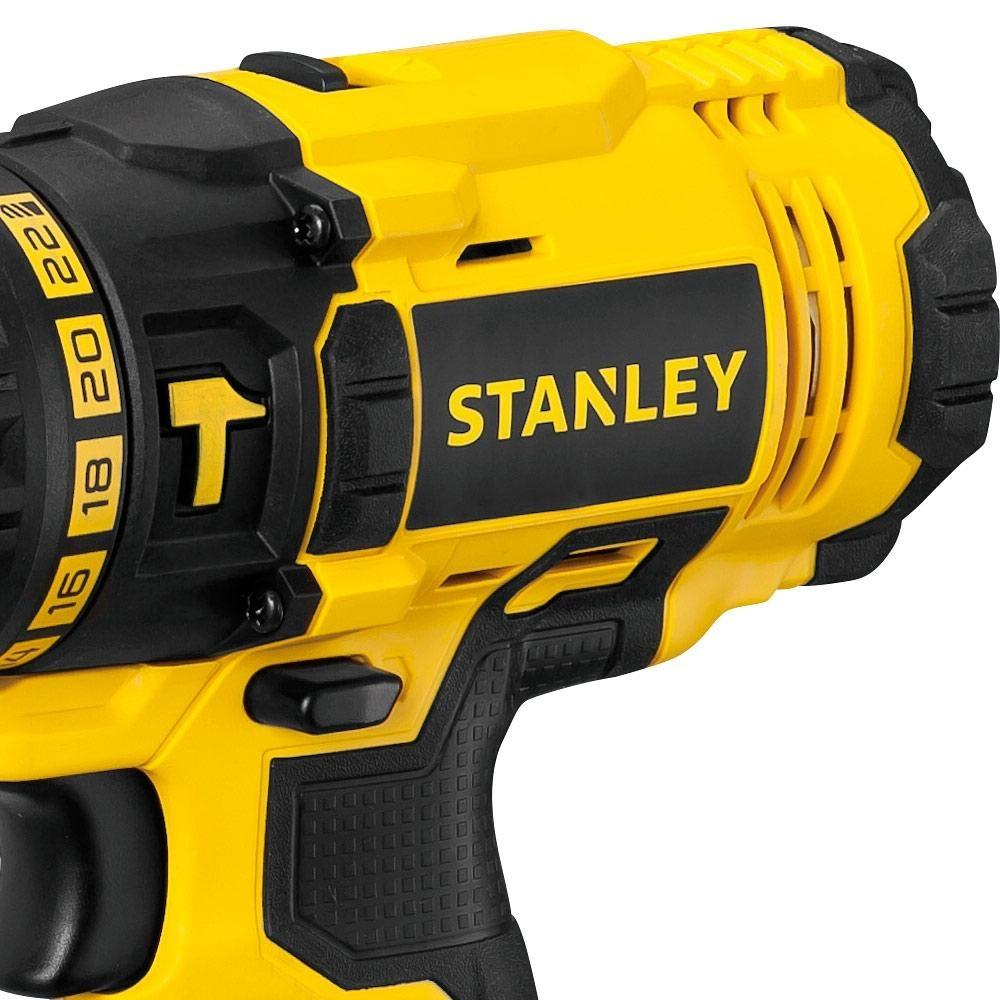 Furadeira Parafusadeira Impacto 2 Bat 20V Lition Stanley SCH20C2K