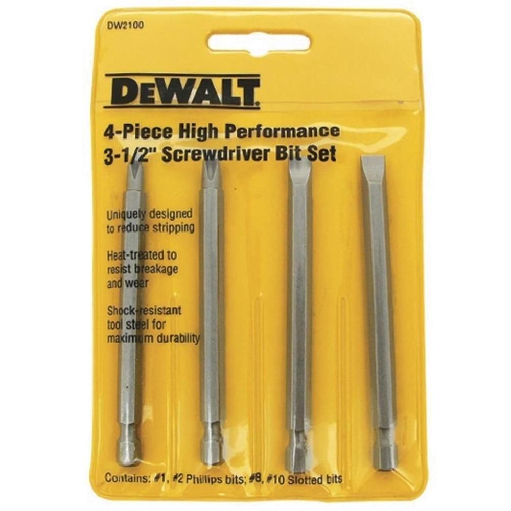 Jogo de Ponteiras para Parafusar com 4 unidades Dewalt DW2100