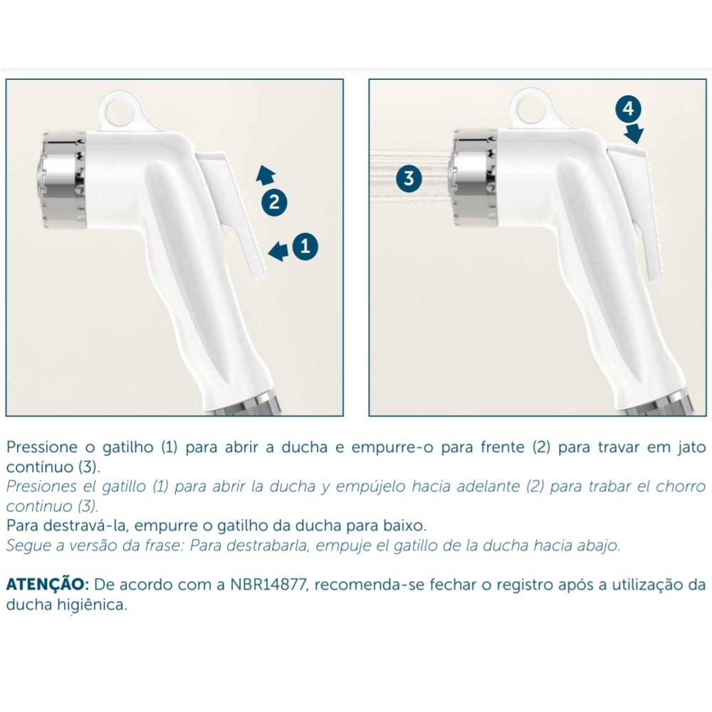 Kit Completo Ducha Higienica Inox Blukit 220933