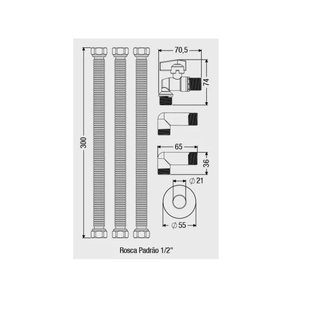 Kit Completo para Instalacao de Aquecedores a Gas Censi 7560