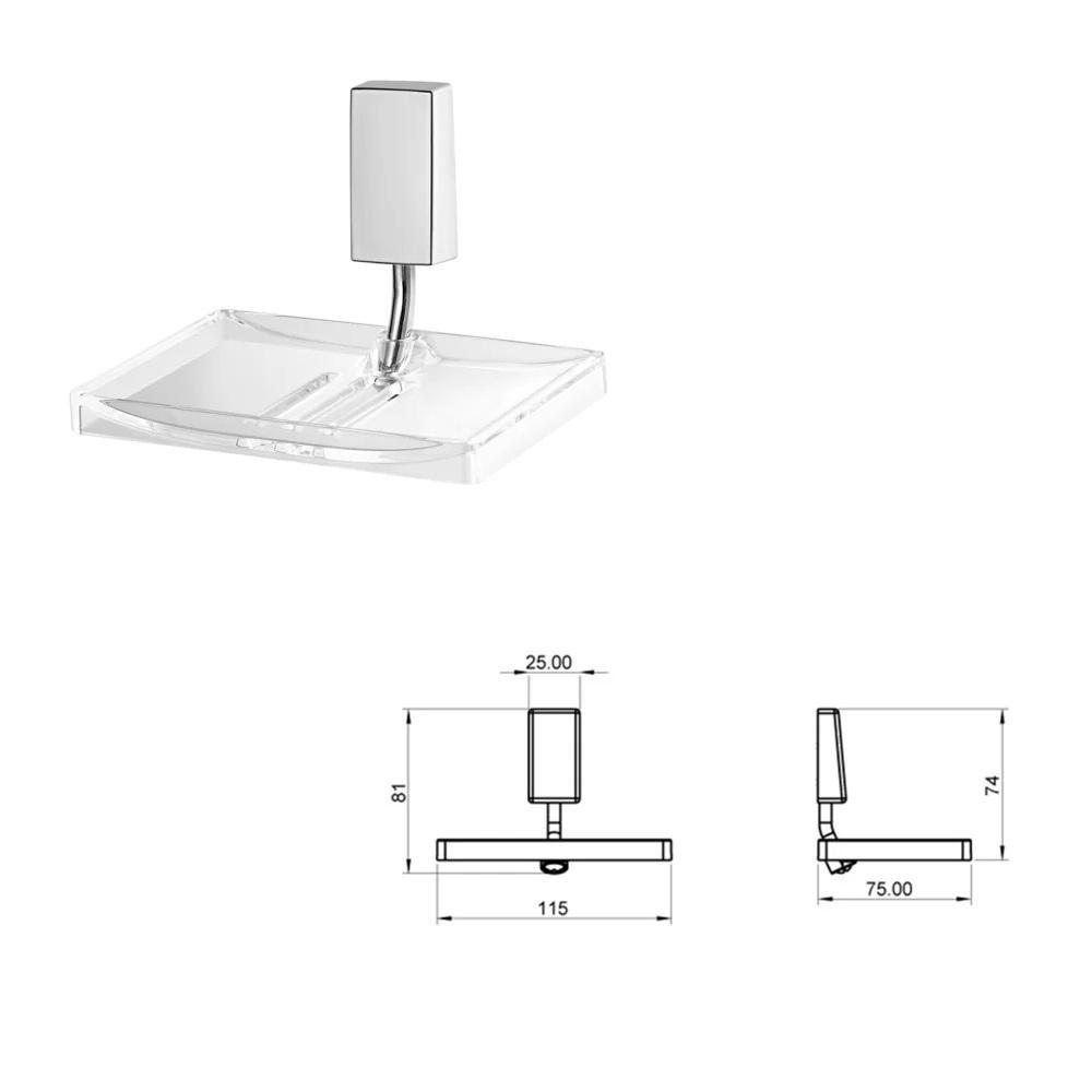 Kit de Acessorios para Banheiro 5 Pecas Lorenzetti 2000 C30