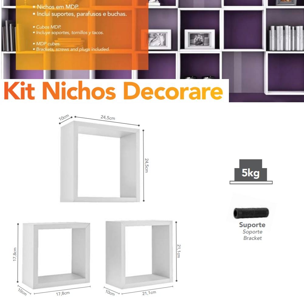 Kit Nichos Branco PratK 08785 001
