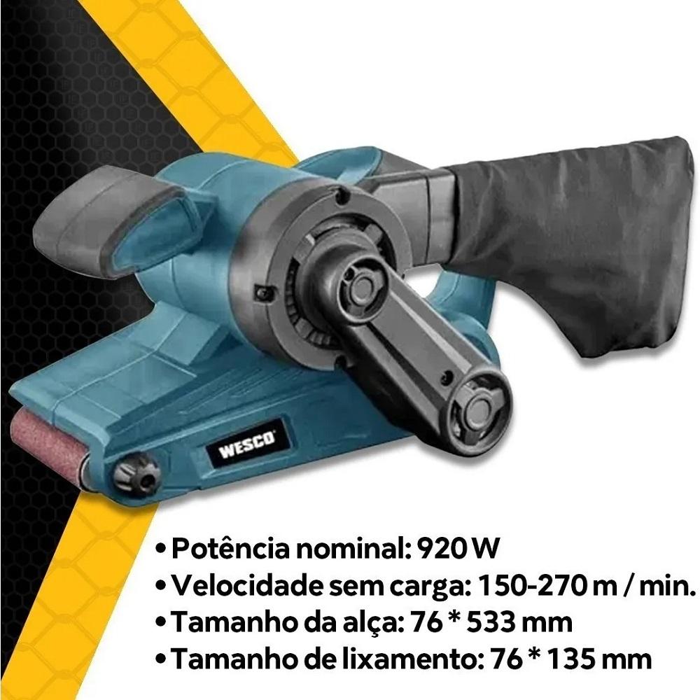 Lixadeira de Cinta 920W 220V Wesco WS4366