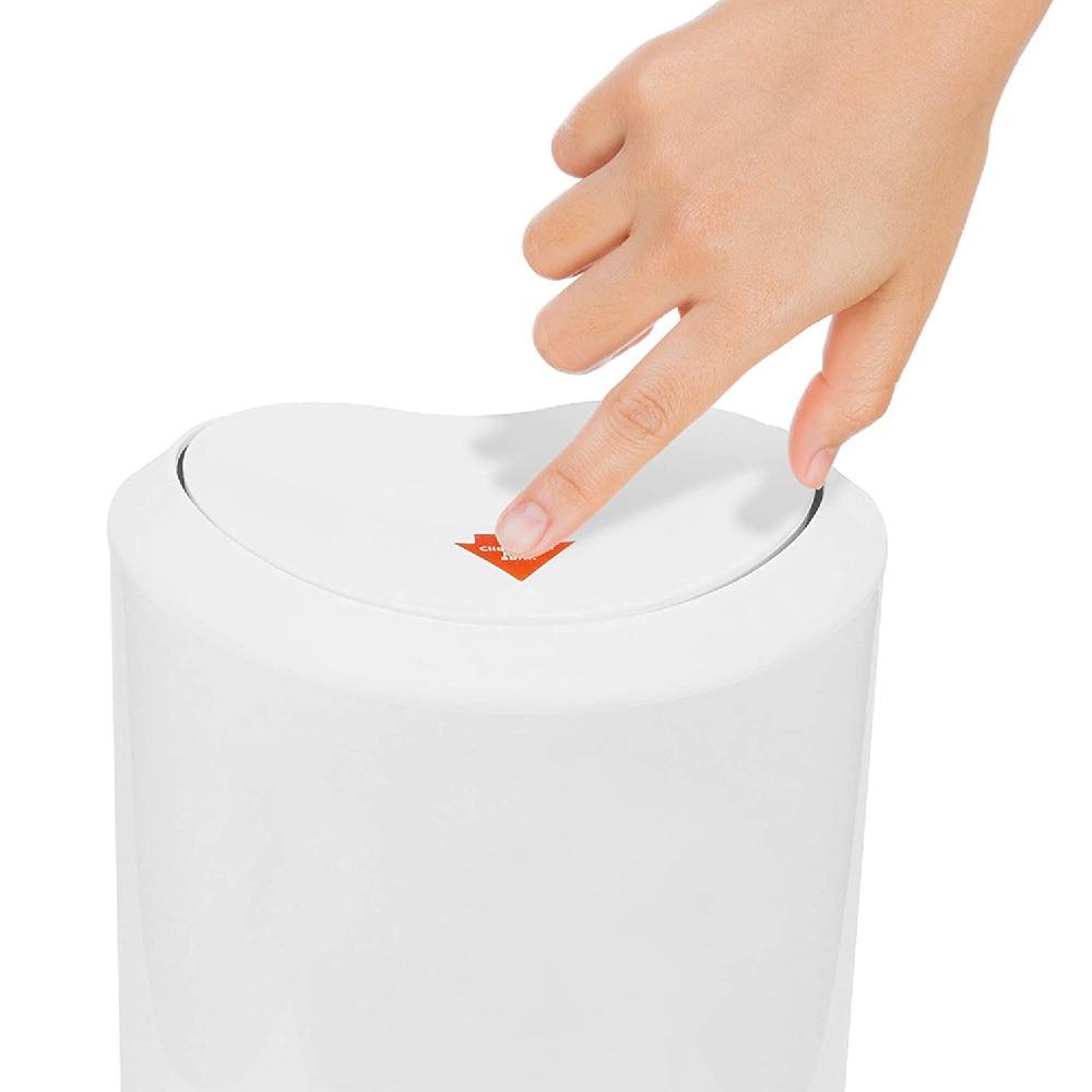 Lixeira Plastica de Banheiro 5L Branca PratK 10030 000